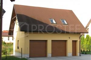 Budynek gospodarczo-garażowy | Typ: parterowy z poddaszem | Powierzchnia użytkowa: 77,00m2 | Jankowice, 2008r.
