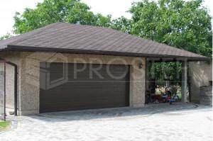 Budynek gospodarczo-garażowy z wiatą | Typ: parterowy | Powierzchnia użytkowa: 54,00m2 | Rydułtowy, 2004r.