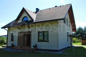 Budynek mieszkalny jednorodzinny | Typ: parterowy z poddaszem użytkowym | Powierzchnia użytkowa: 178,80m2 | Rydułtowy, 2003r.