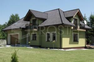 Budynek mieszkalny jednorodzinny | Typ: parterowy z poddaszem użytkowym | Powierzchnia użytkowa: 202,40m2 | Rydułtowy, 2006r.