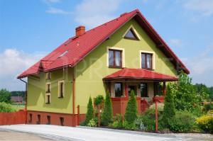 Budynek mieszkalny jednorodzinny | Typ: parterowy z poddaszem użytkowym, podpiwniczony | Powierzchnia użytkowa: 281,30m2 | Rydułtowy, 2002r.
