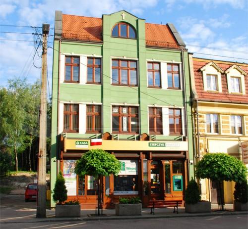 Budynek usługowo-biurowy | Współautor: mgr inż. arch. Janusz Błaszczyński | Rydułtowy,1990 r.