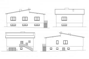 R 001 | Przed - inwentaryzacja | Nadbudowa i zmiana konstrukcji dachu budynku mieszkalnego jendorodzinnego | Rydułtowy, 2004r.