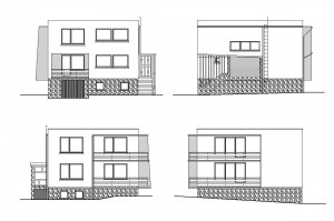 R 002 | Przed - inwentaryzacja | Rozbudowa i zmiana konstrukcji dachu budynku mieszkalnego jednorodzinnego | Rybnik, 2010r.