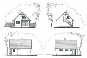R 005 | Przed - inwentaryzacja | Rozbudowa budynku gopodarczego i adaptacja na budynek garażowo-usługowy | Rydułtowy, 2003r.